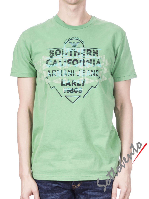 Футболка зеленая  Armani J T6H26SQ