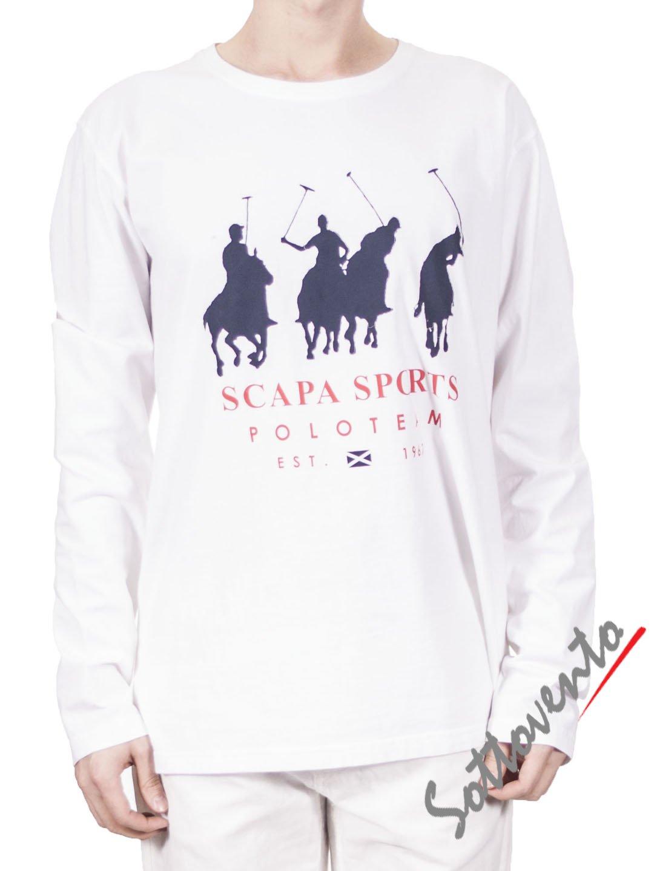 Поло белый  Scapa Sport 3SMYQIMIJERS