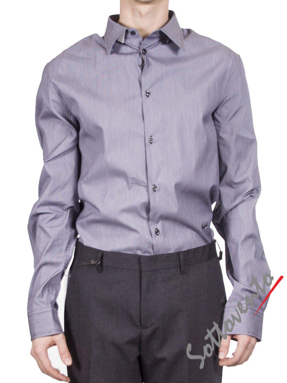 Рубашка  серая  Richmond 3441.