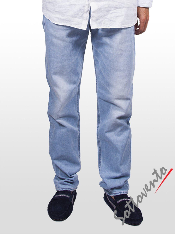 Джинсы голубые  Cycle Men MPT025.