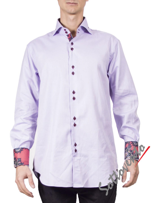 Рубашка сиреневая FIRENZE  Giovanni Rosmini