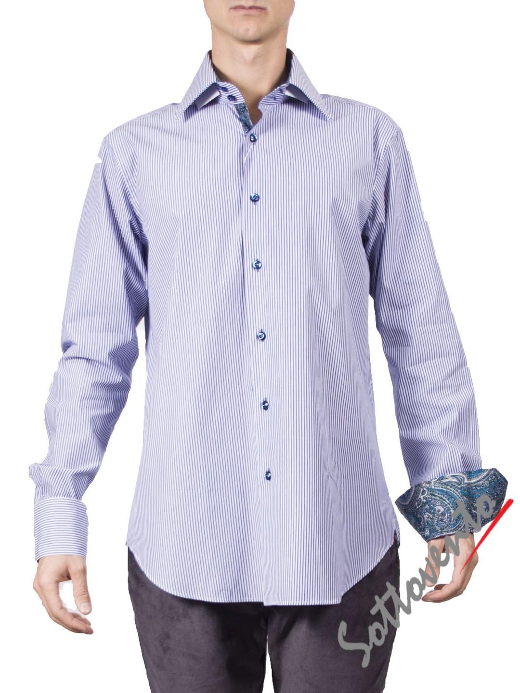 Рубашка голубая Giovanni Rosmini PLATINO264.