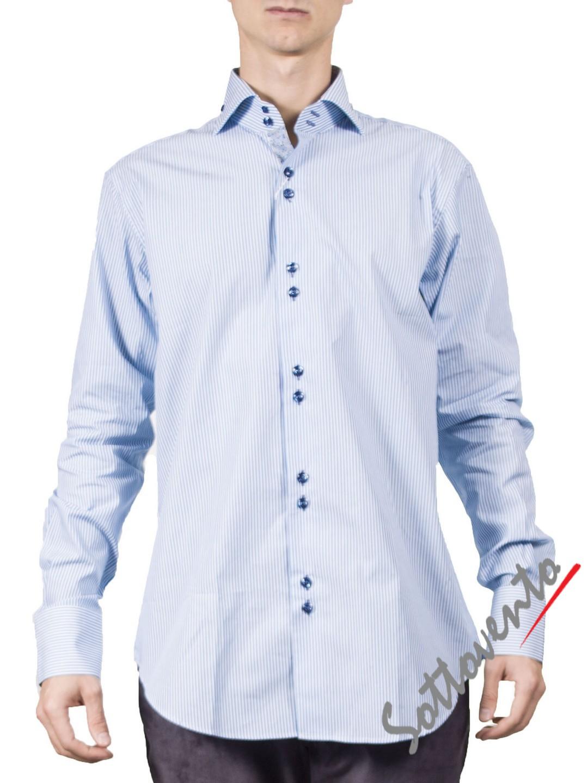 Рубашка голубая Giovanni Rosmini PLATINO266.