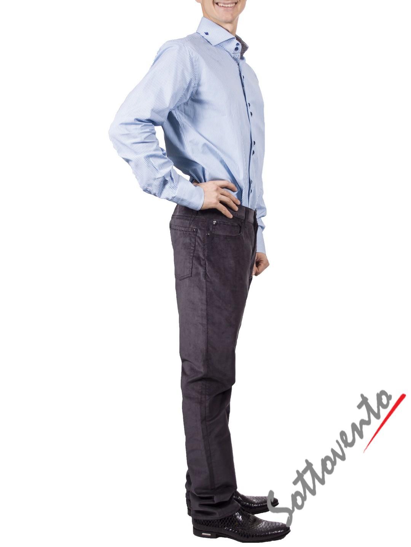 Рубашка голубая Giovanni Rosmini PLATINO266. Image 3
