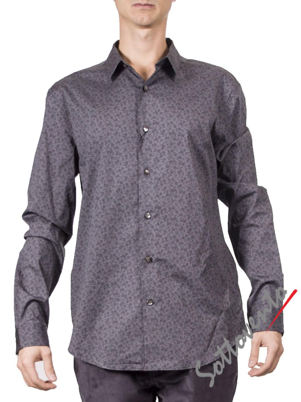 Рубашка серая   Varvatos W459.