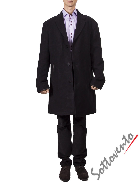Пальто чёрное  Varvatos 0897.