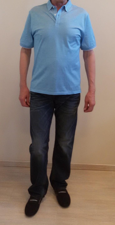 Поло голубое Benigni 264TE2