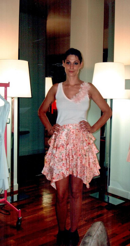 Юбка розово-белая Blugirl Folies 8776.