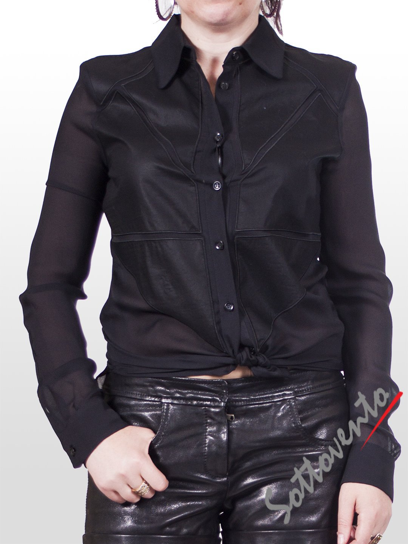 Рубашка чёрная  Versus B0TAB624