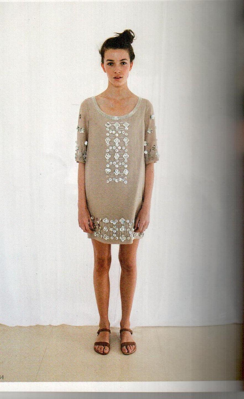 Платье бежевое  Matthew Williamson М051.