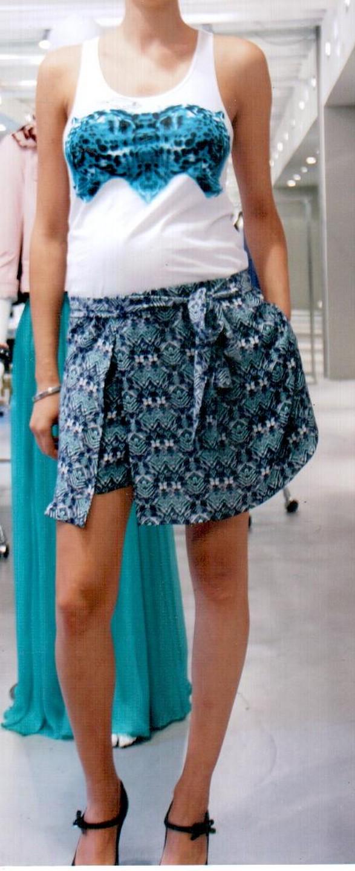 Юбка-шорты бело-синяя Faith
