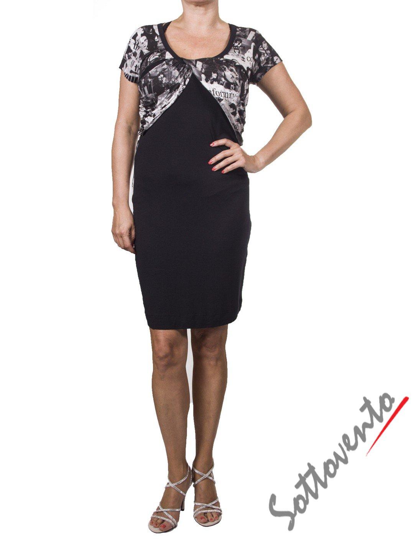 Платье  чёрно-белое Richmond 4021.