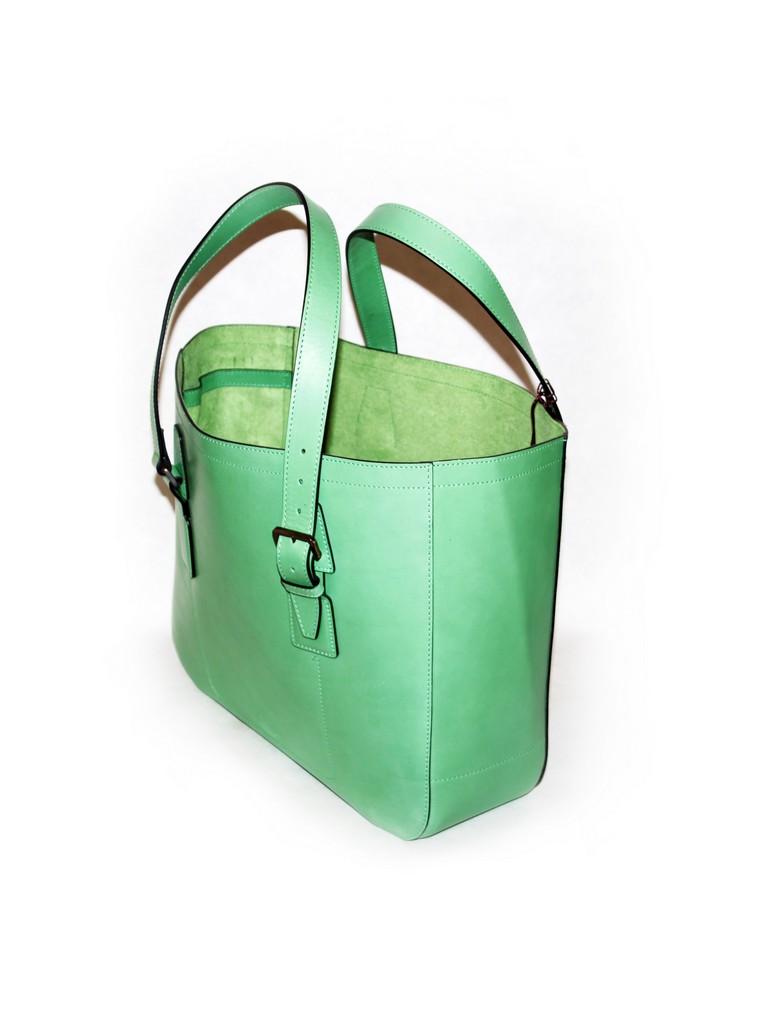 Сумка зелёная  Bruno Magli 5001.