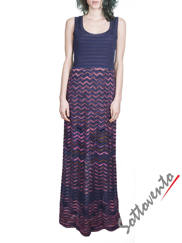 Платье розово-синее  Missoni M CDA9A4DO