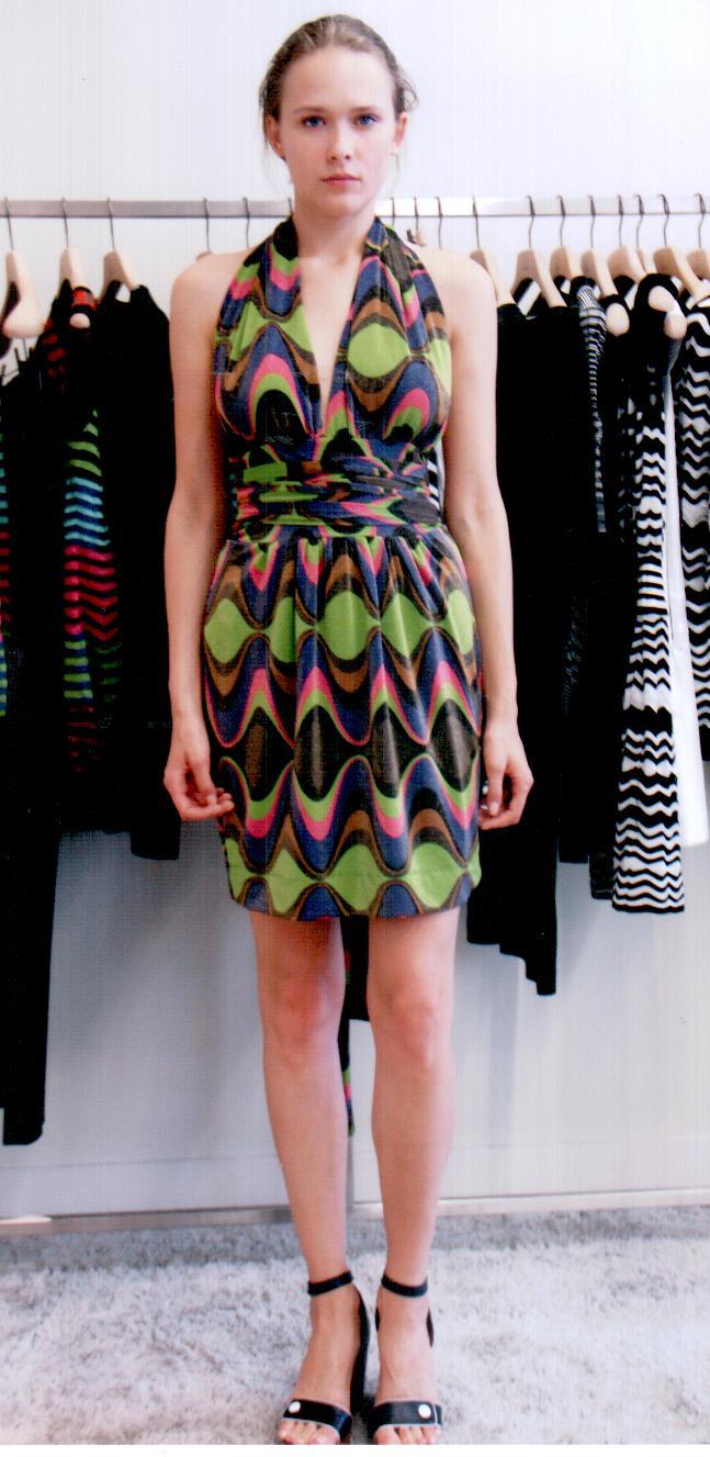 Платье  розово-зелёно-фиолетовое Missoni M CDANA4EO