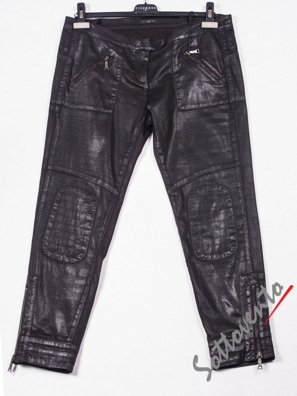 Брюки чёрные кожаные Richmond 2010.