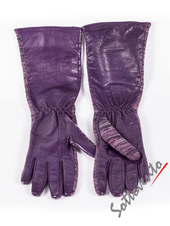 Перчатки фиолетовые Missoni M DDAGOOAO