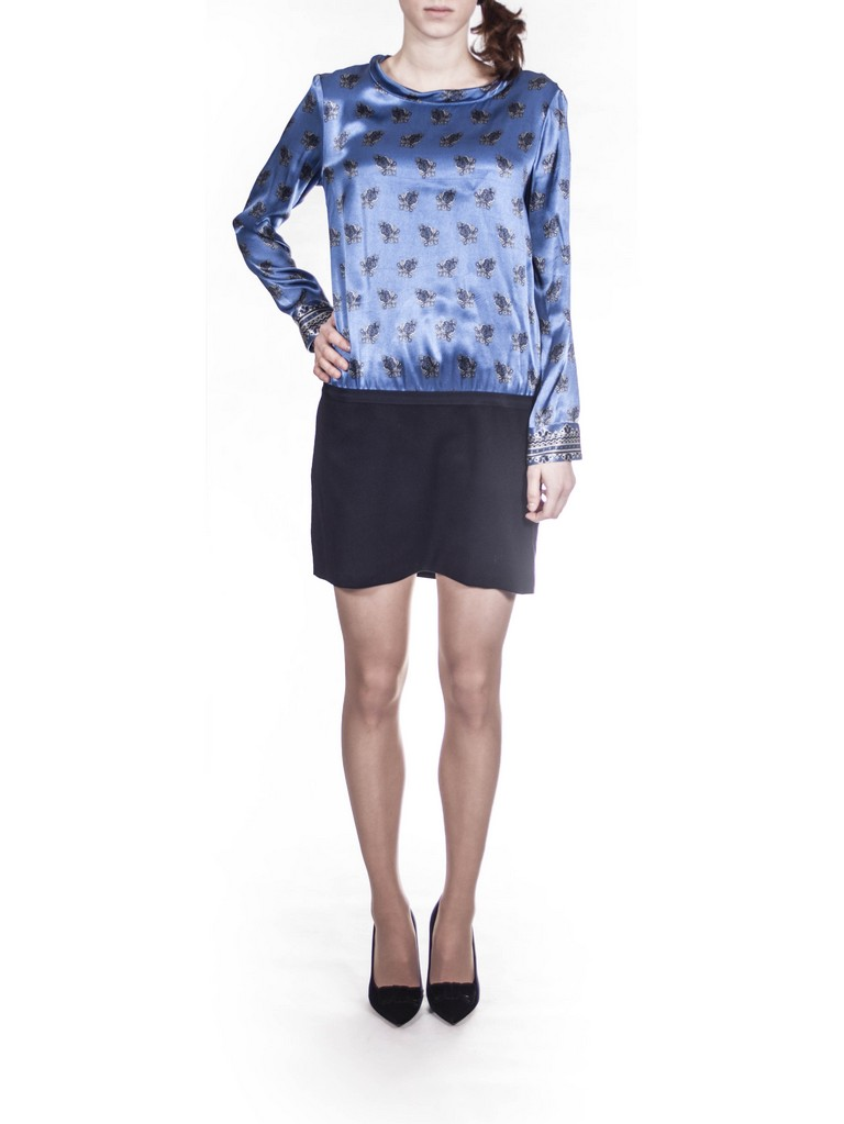Платье чёрно-голубое Coast Weber 65433.