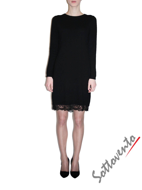 Платье  чёрное с кружевом Ki6? Who are you? MG58.