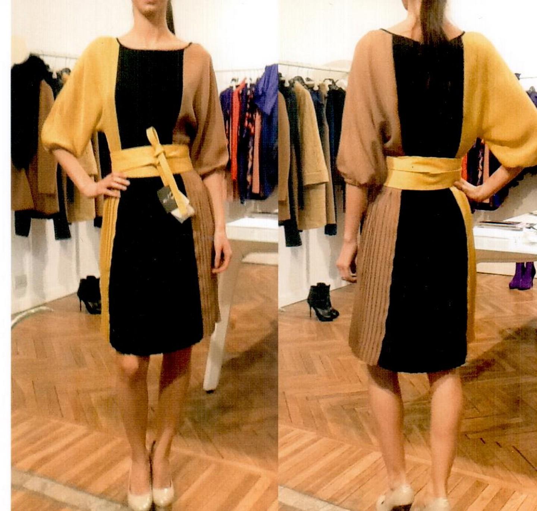 Платье чёрно-жёлто-коричневое  Ki6? Who are you? AV87.
