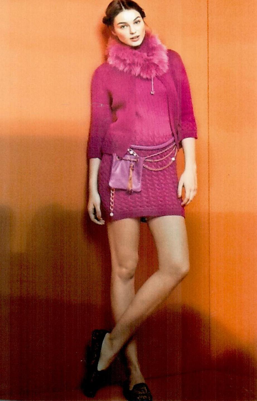 Воротник розовый  Blugirl Folies 3307.