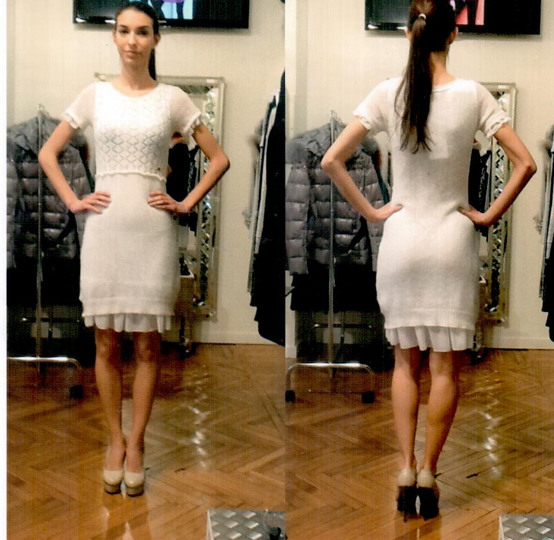 Платье белое Blugirl Folies 3959.
