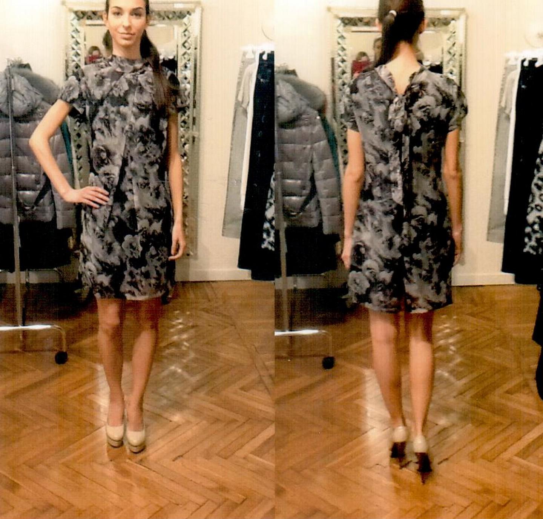 Платье серо-коричневое  Blugirl Folies 3942.