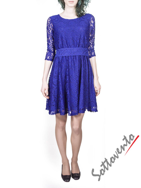 Платье синее из гипюра Blugirl Folies 3919.