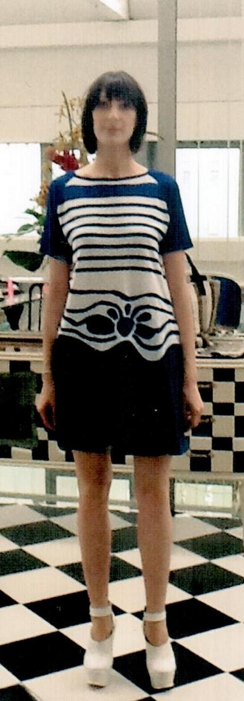 Юбка-шорты синяя  I'M Isola Marras 320153.