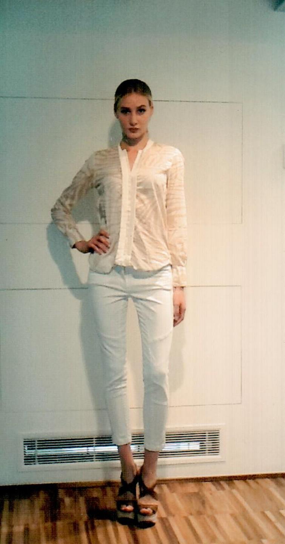 Рубашка бежево-белая  Coast Weber 55828.