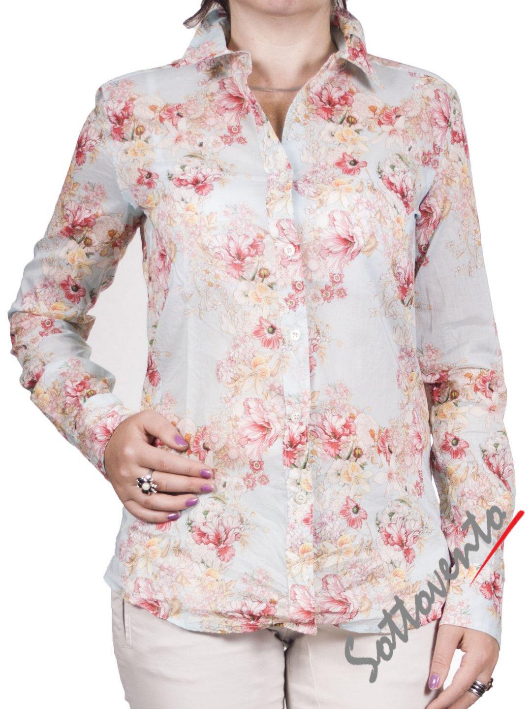 Рубашка голубая с розовым  Coast Weber 55820-09634.