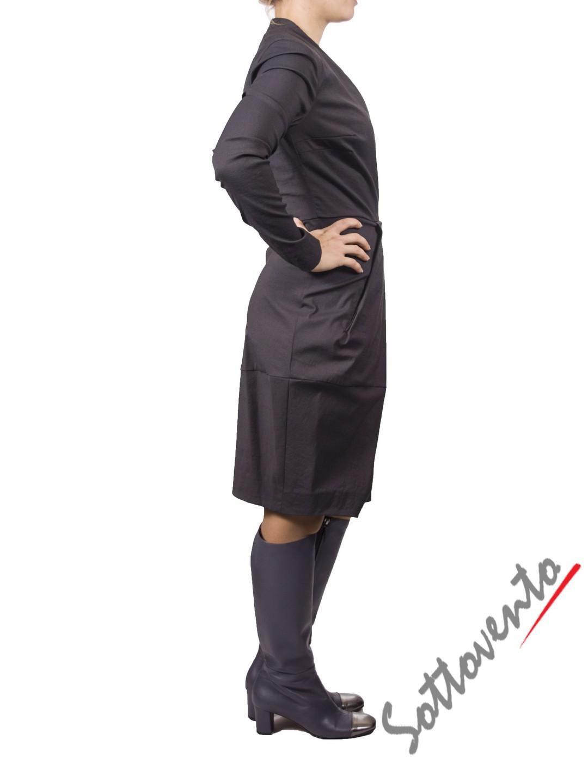 Платье серое MALLONI 40220. Image 2