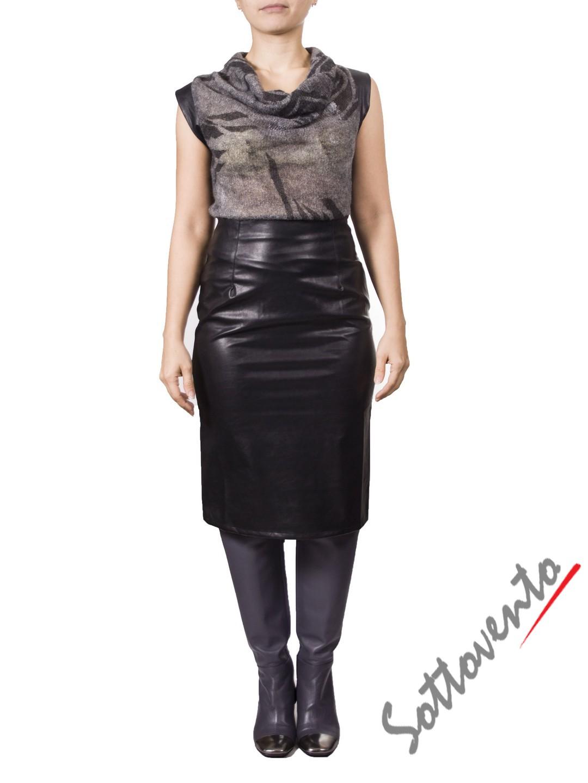 Платье серо-чёрное MALLONI 20232.