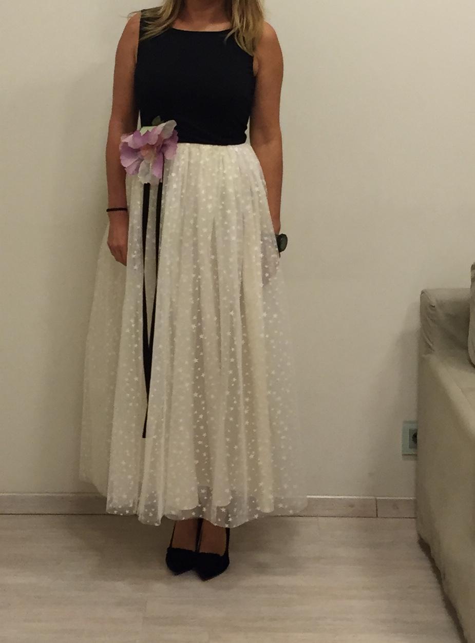 Платье бело-чёрное Valentino Red