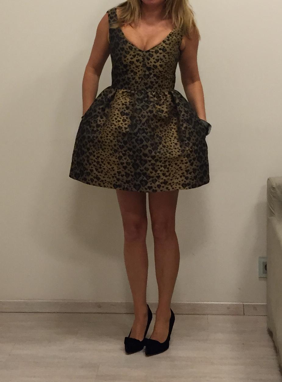 Платье серо-чёрное  Valentino Red