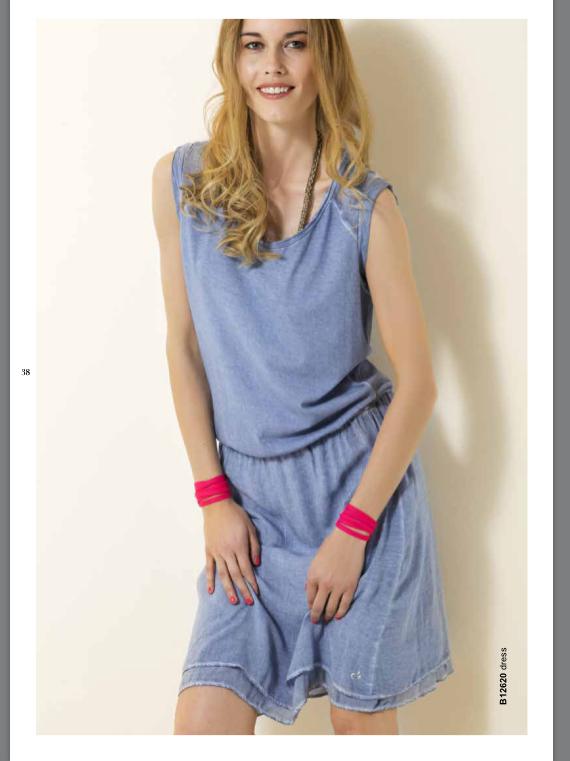 Платье голубое Deha