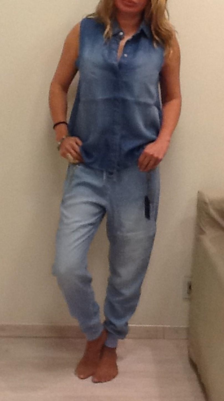 Рубашка джинсовая голубая Black Orhid 181TN