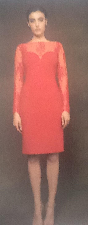Платье красное с гипюром Meher&Riddhima A1510
