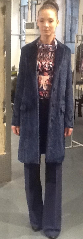 Пальто синие MSGM 116