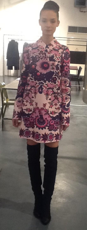 Платье розово-фиолетовое MSGM 141