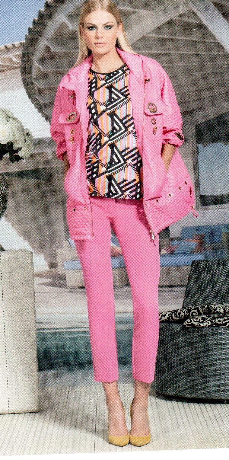 Кофта розово-черная в ромб Daniela Drei 9117