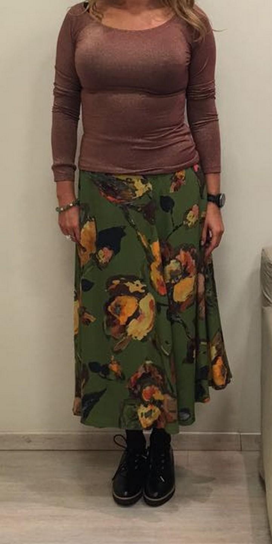 Юбка зеленая в цветы I.Marras 119412