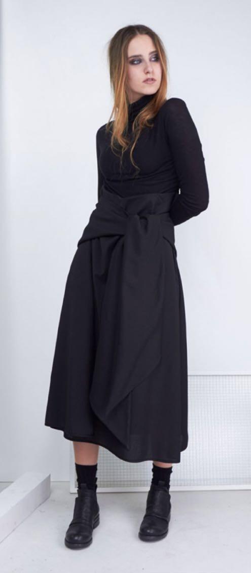 Юбка черная с бантом Malloni 129S022