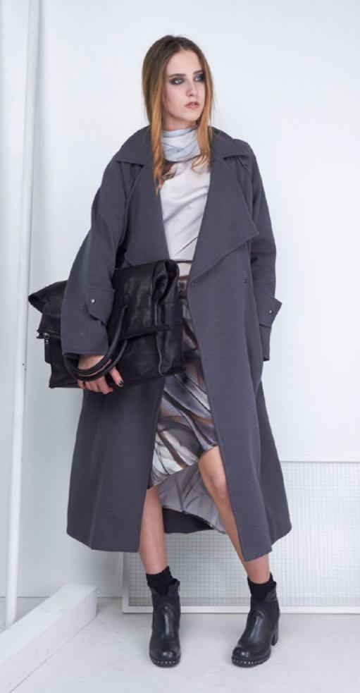 Пальто серое Malloni 10114-00