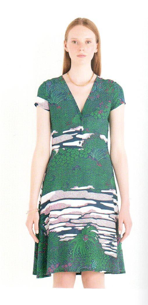 Платье зелено-синее Ottod`Ame арт.2933