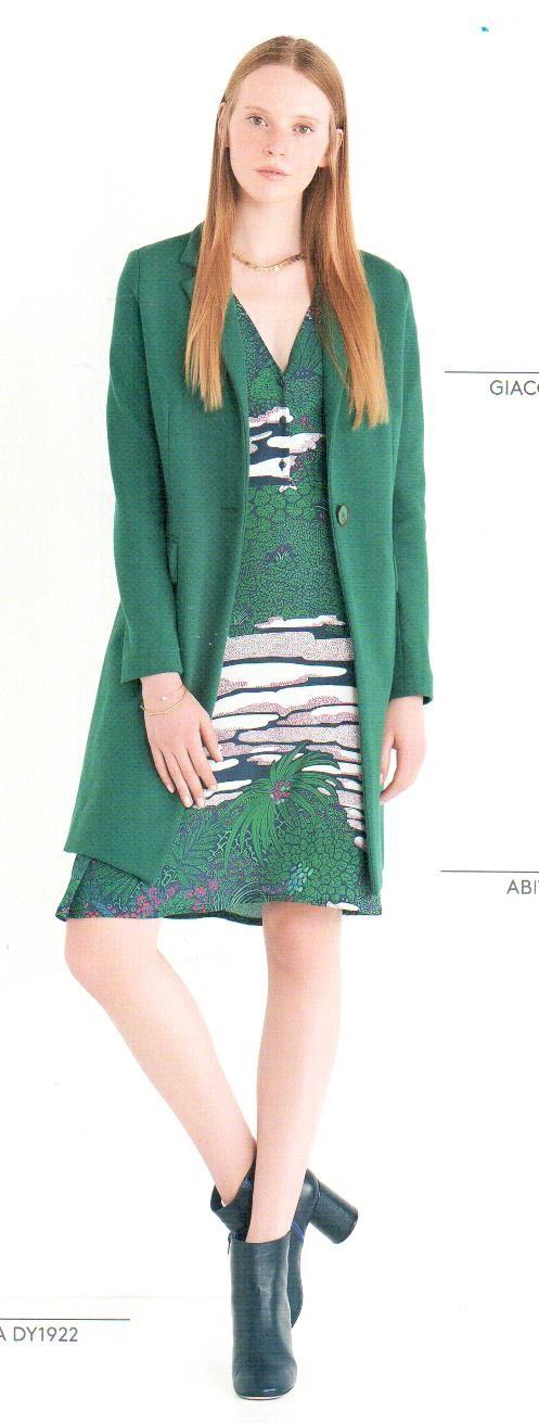 Пальто зеленое Ottod`Ame арт.4637