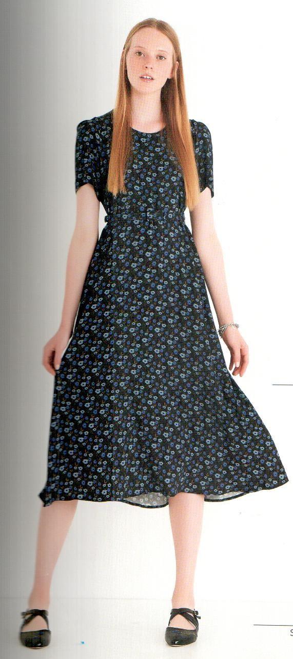 Платье синее с цветочным принтом Ottod`Ame арт.2969