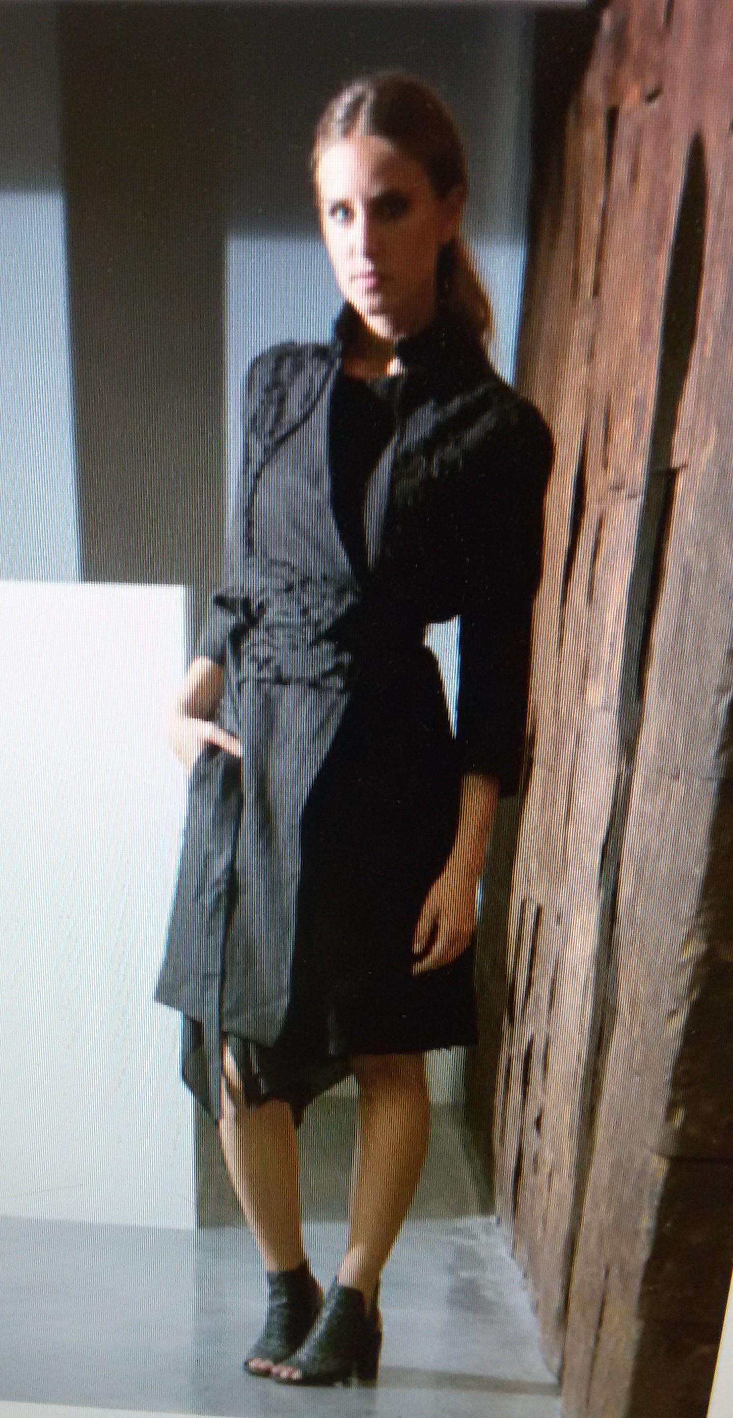 Пальто черное Malloni арт.2731