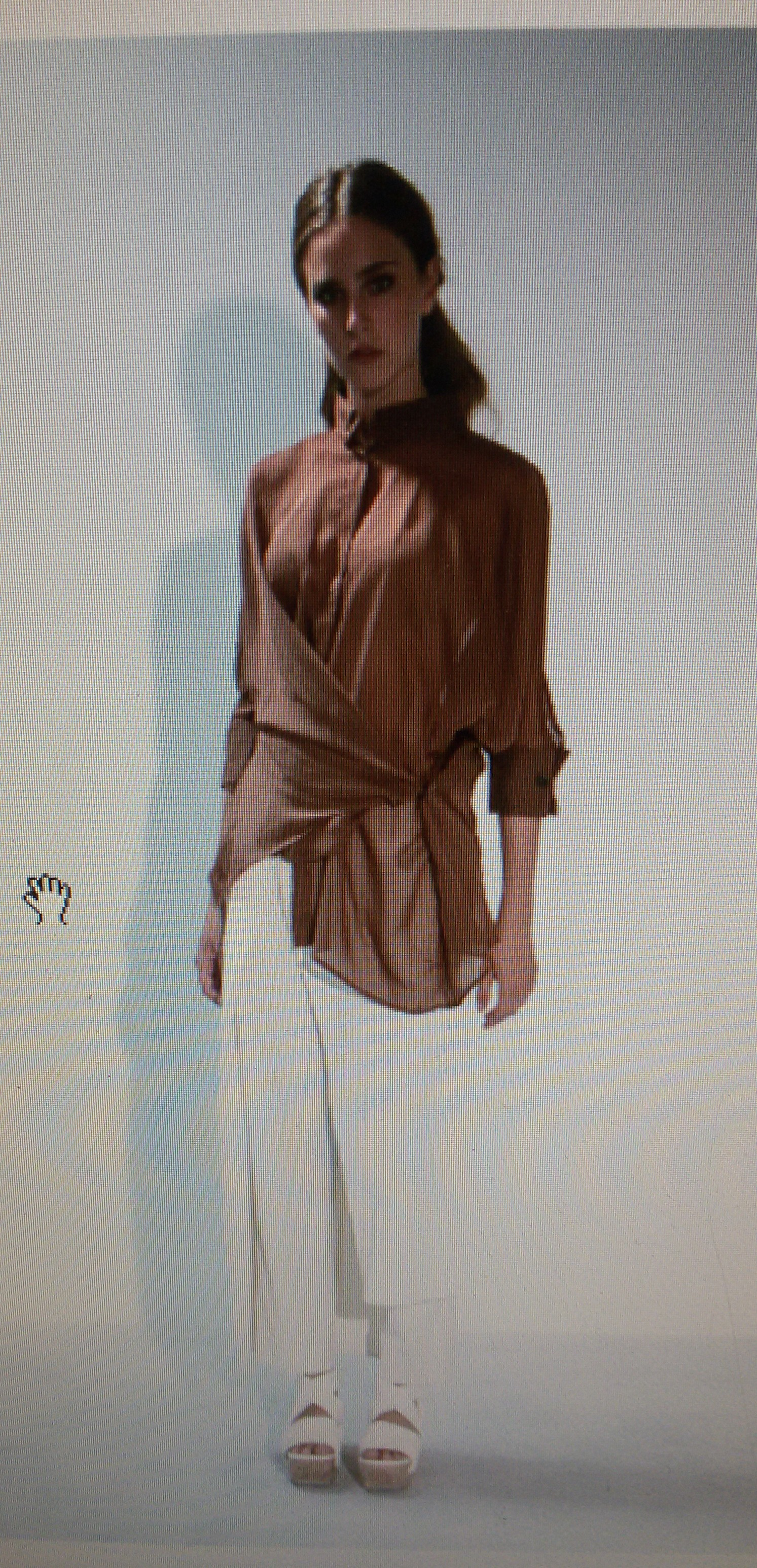 Блузка коричневая Malloni арт.2855