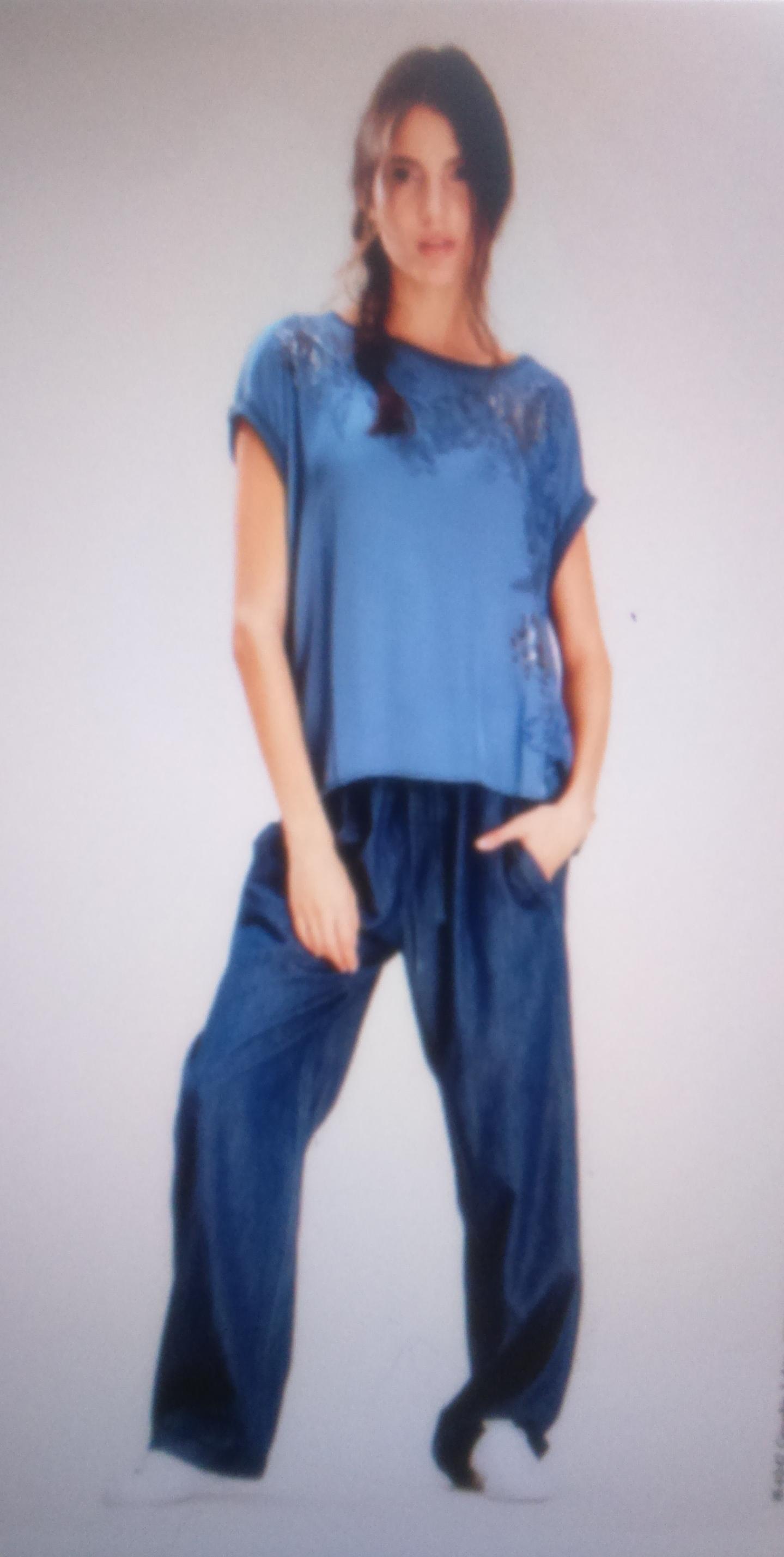 Блуза синяя DEHA арт.54044